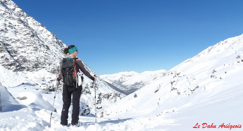 Raquettes à neige - Etang Izourt - Pyrénées