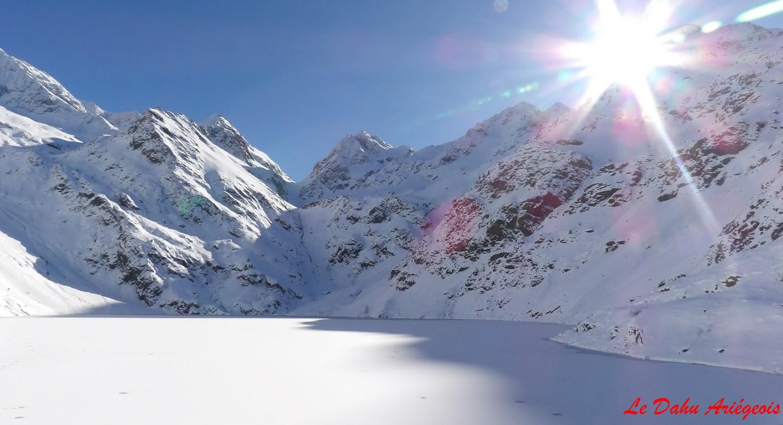 Raquettes à neige - Barrage Izourt - 2